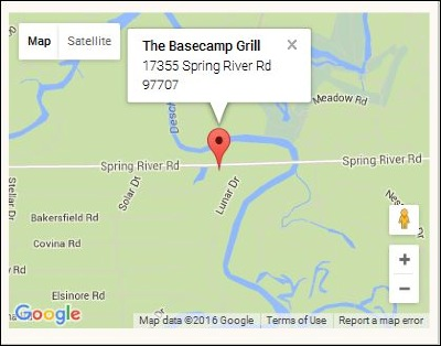 The Basecamp Grill Map